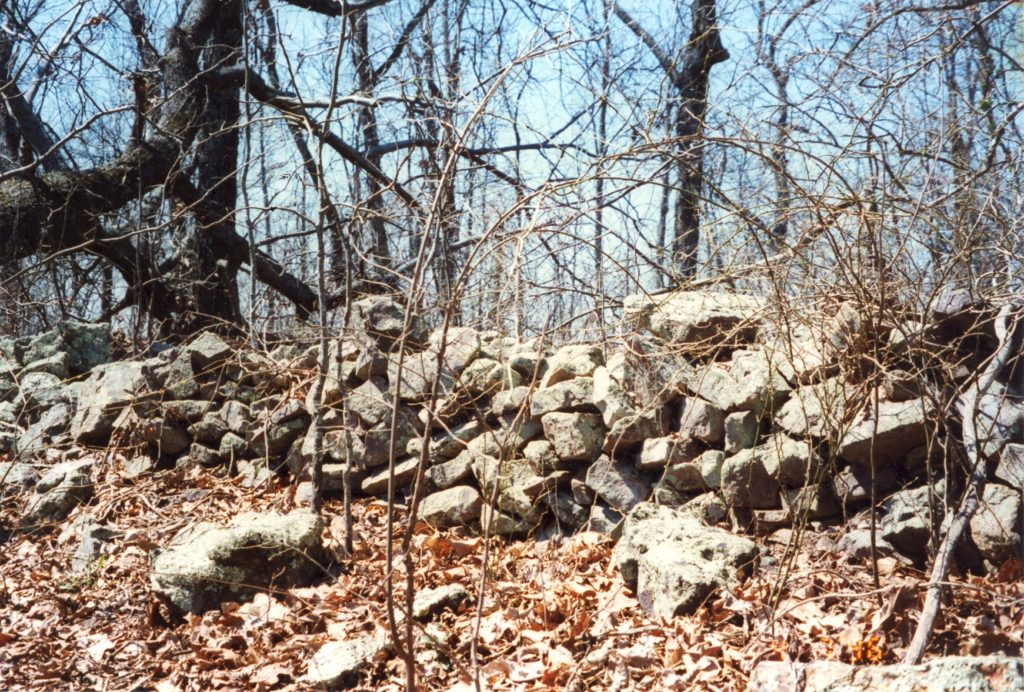 Mysterious rock wall of Bartow County