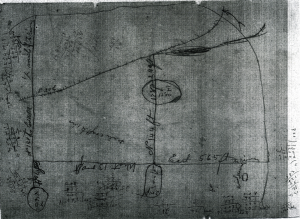 Figure 2. Map of Rowland Mounds by John P. Rogan, 1883