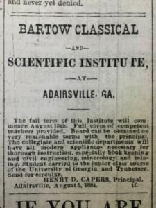 Cartersville American8/5/1884