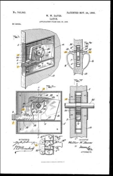 W.W.Daves Patent