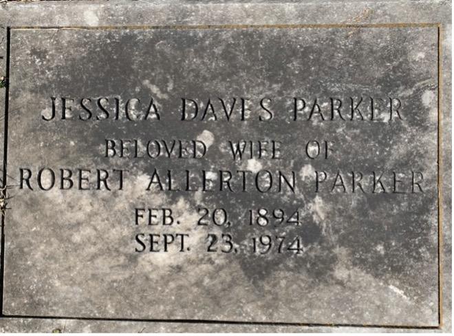 Jessica Daves Parker Gravestone