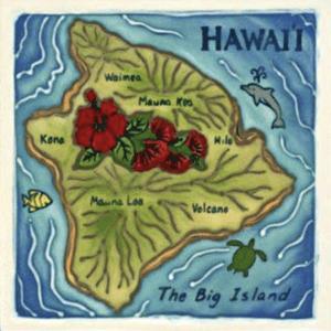Island of Hawaii Tile