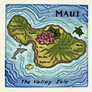 Island of Maui Tile