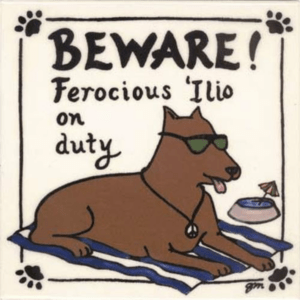 "Ferocious 'Ilio on Duty 6"" Tile"