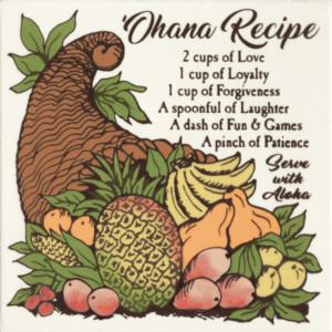 Ohana Recipe Tile
