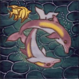 Dolphin Pair Tile