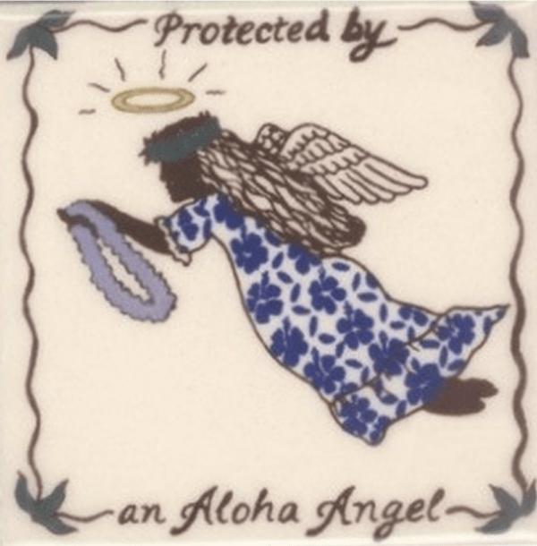 Aloha Angel Tile blue