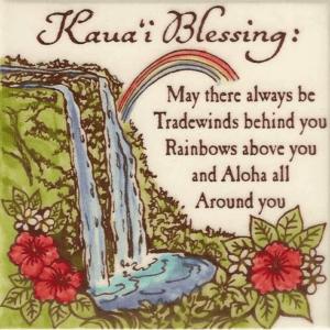 Kauai Blessing Waterfall Tile
