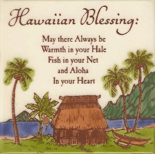 Hawaiian Blessing Tile