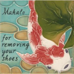 Koi Fish Remove Shoes Tile