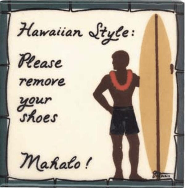 Surfer Boy Hawaiian Style Tile