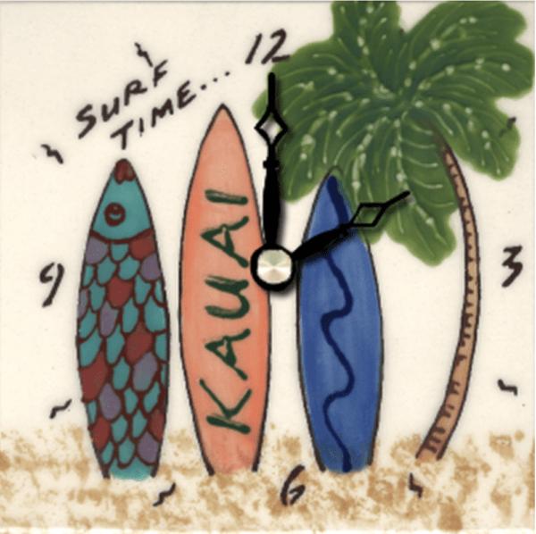 "Surfboard 4"" Clock"
