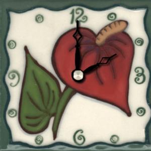 """Anthurium 4"""" Clock"""