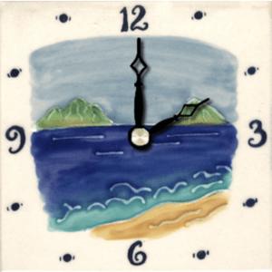 "Mokulua Islands 4"" Clock"