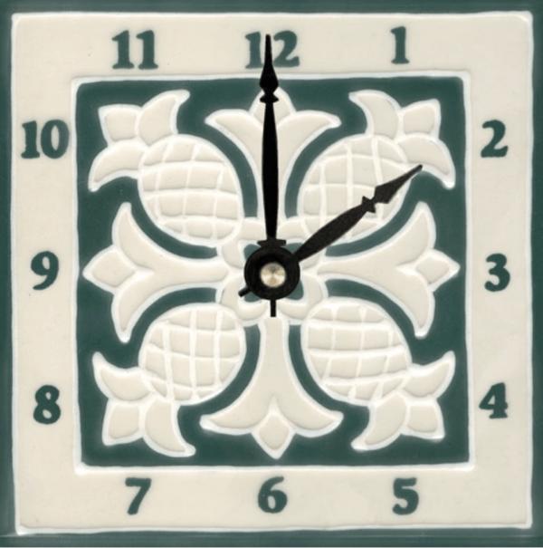 """Pineapple Quilt 6"""" Clock"""