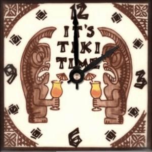 """Tiki Time 6"""" Clock"""