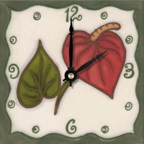 """Anthurium 6"""" Clock"""