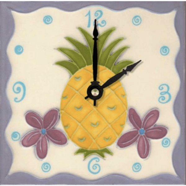 "Pineapple 6"" Clock"