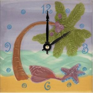 """Palm Tree 6"""" Clock"""