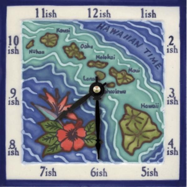 """Hawaiian Islands 6"""" Clock"""