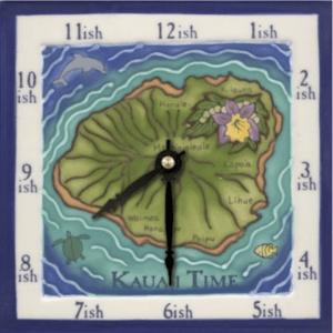 """The Island of Kauai 6"""" Clock"""