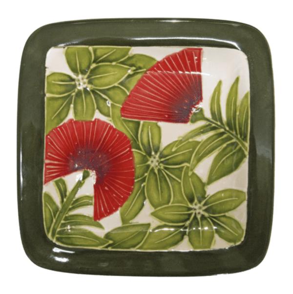 """8"""" Sq. Rim Salad Plate Ohia Lehua 1016"""