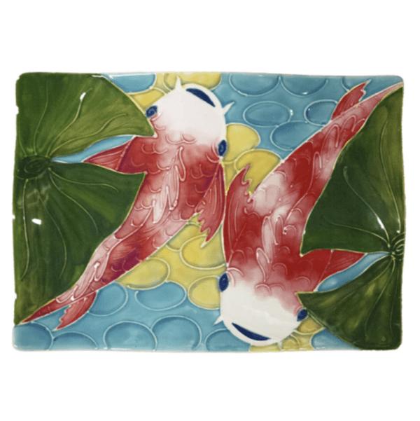 """14"""" Flare Sushi Platter Tropical Koi Fish"""
