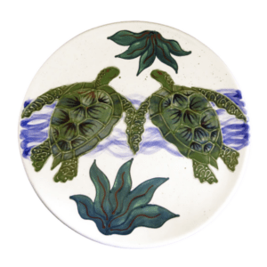 Round Coupe Dinner Plate Embossed Honu (Turtle)