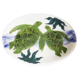 Oval Coupe Platter Embossed Honu (Turtle)