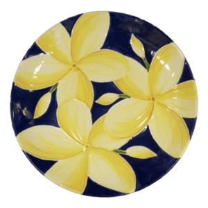 Round Coupe Blue Plumeria