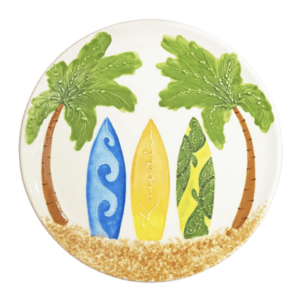 Round Coupe Dinner Plate Hawaiian Surfboards