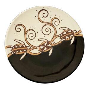 "8"" Round Plate Tapa Honu 1004"