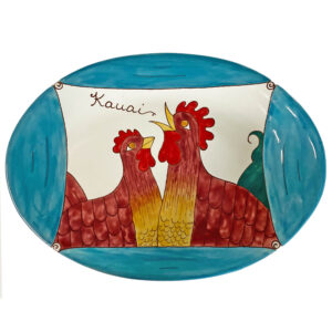 oval platter Blue Rooster 3003