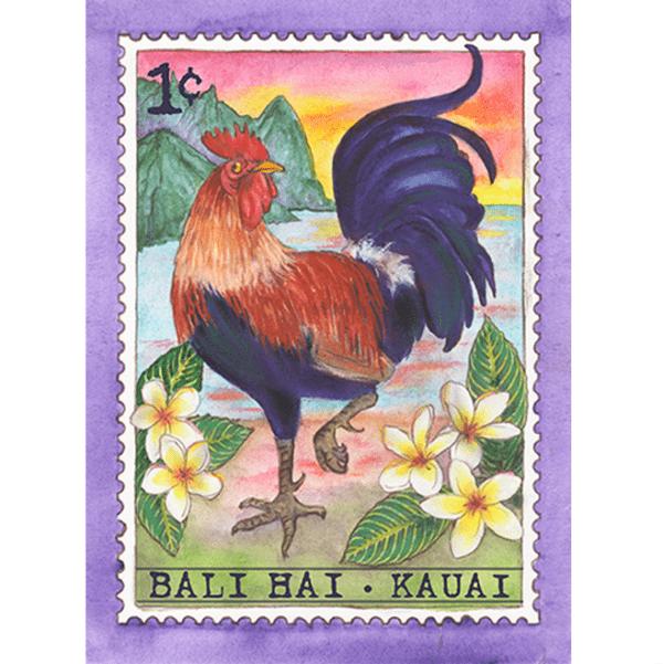 Bali Hai Chicken Stamp Note Card