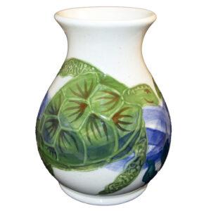 Embossed Honu classic vase