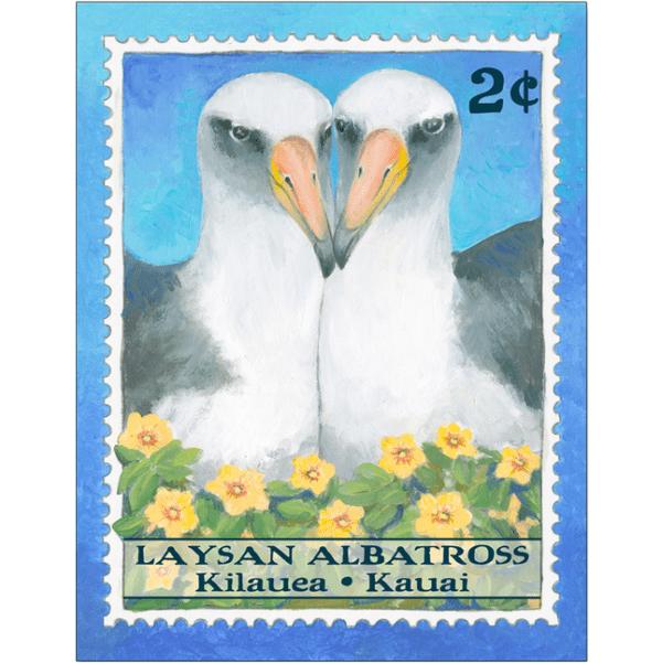 Laysan Albatross 2¢ stamp Print