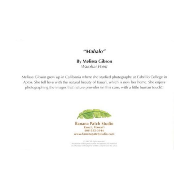 Mahalo (Waiohai Point) Greeting Card