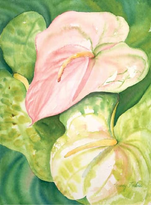 Pink Anthuriums I Nancy Forbes