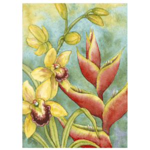 Orchids & Heliconia Giclée