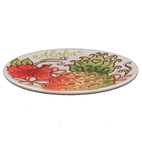 Round Coupe Plate Sugarloaf Pineapple