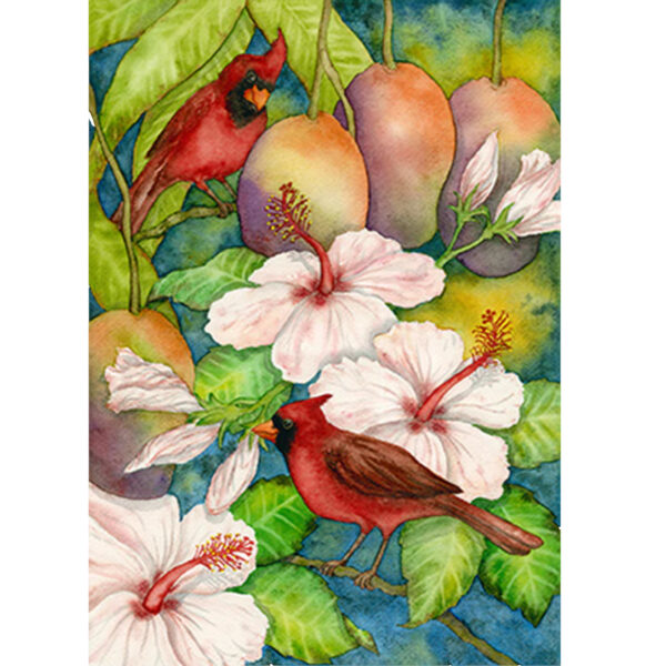 Cardinals in the Mangos Note Card