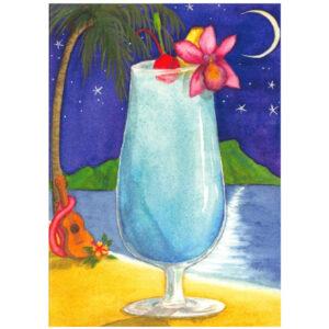 Blue Hawaii Note Card