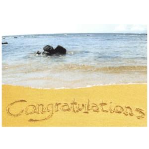 Congratulations (Poipu Beach) Greeting Card