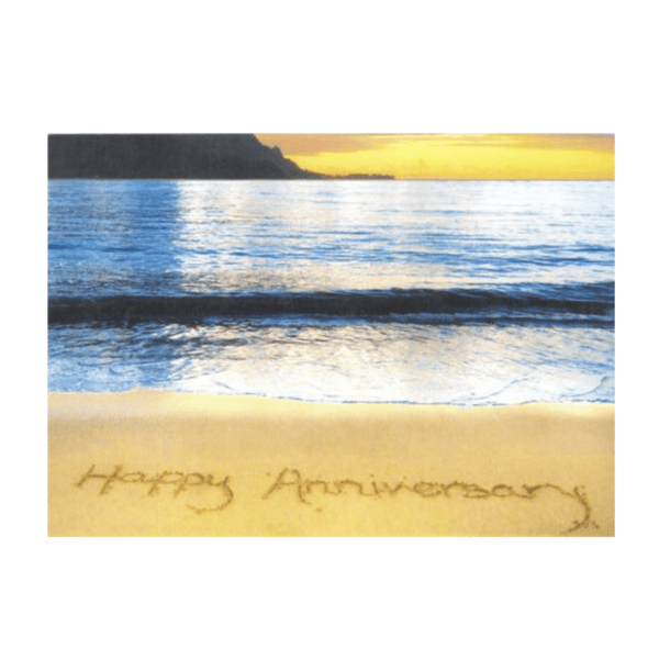 Happy Anniversary (Hanalei Bay) Greeting Card
