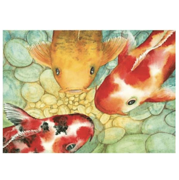 Conversation Greeting Card koi fish