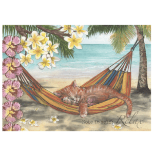 Relax Cat Greeting Card