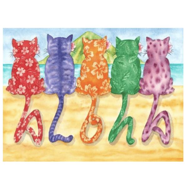 Aloha Kitties Greeting Card