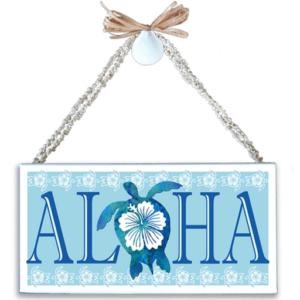 Aloha Honu (Turtle) Varnished Canvas Sign