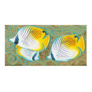 Butterflyfish in Gold Giclée