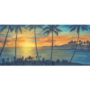 Beach House Sunset Giclée